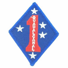 "1st Marine Division Guadalcanal 3"" Patch"