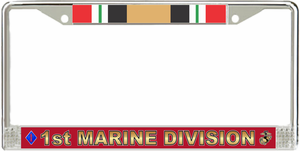 1st Marine Division Iraq Veteran License Plate Frame