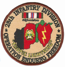 """25th Infantry 4"""" Operation Enduring Freedom Patch"""