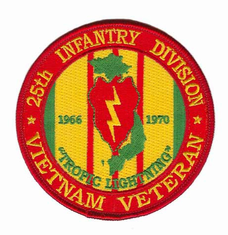 "25th Infantry 4"" Vietnam Veteran Patch"