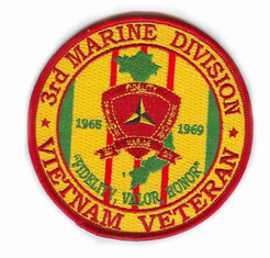 "3rd Marine Corps Division 4"" Vietnam Veteran Patch"