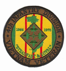 "4th Infantry 4"" Vietnam Veteran Patch"