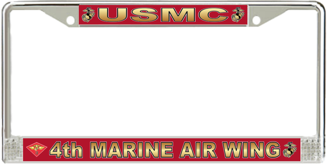 4th Marine Air Wing License Plate Frame