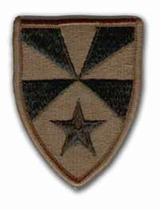 """7TH SUPPORT COMMAND  3"""" SUBDUED MILITARY PATCH"""