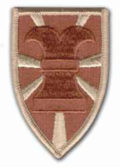 """7TH TRANSPORTATION COMMAND 3"""" DESERT MILITARY PATCH"""