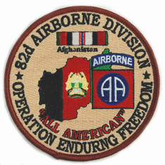 """82nd Airborne 4"""" Operation Enduring Freedom Patch"""