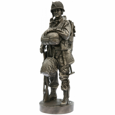 """82nd Airborne D-Day Paratrooper 12"""" Statue"""
