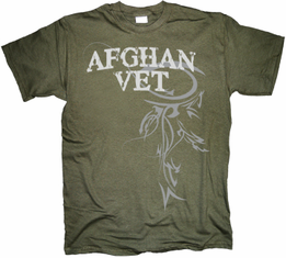 Afghan Veteran Horizontal Tribal T Shirt