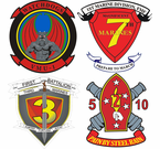 Afghanistan and Iraq Marine Corps Unit Stickers Decals
