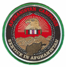 """Afghanistan Campaign Medal 4"""" Patch"""