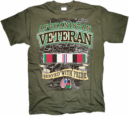 Afghanistan Veteran Served with Pride T Shirt