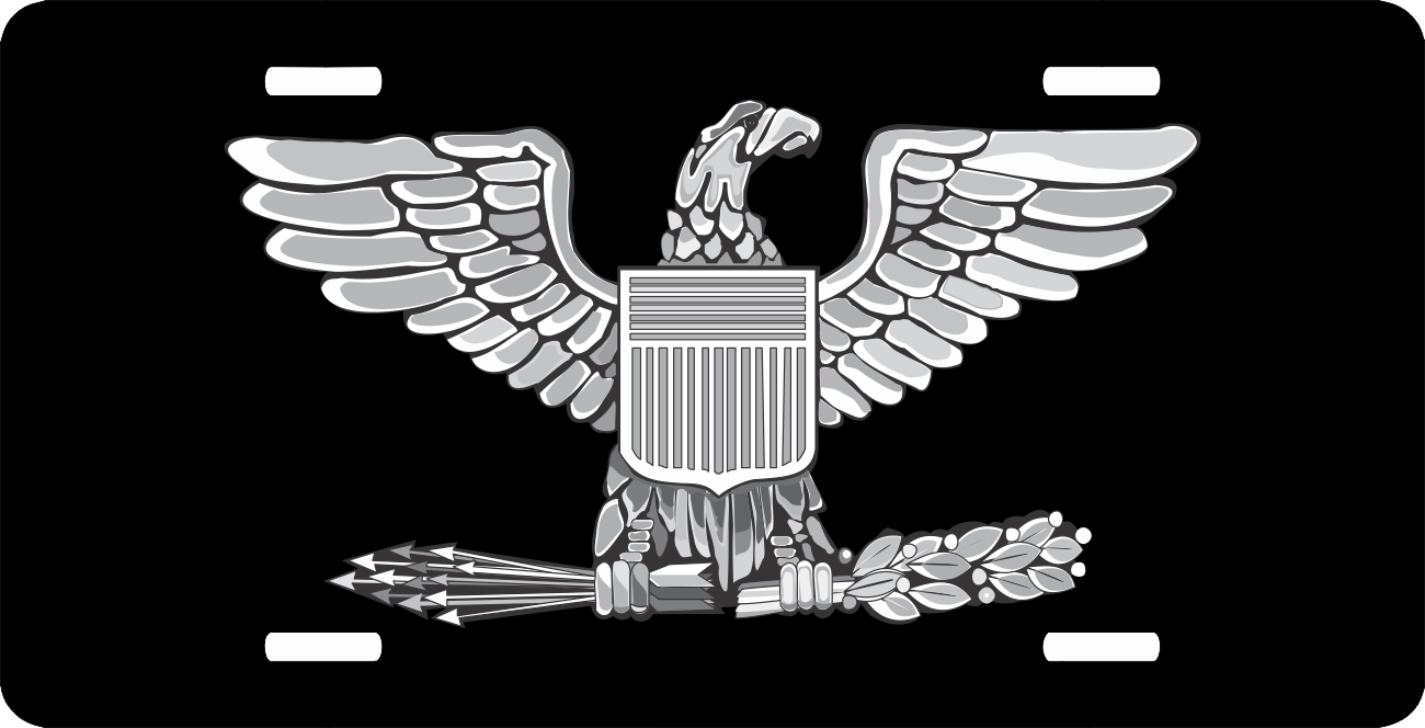 Air Force Colonel Officer Rank Insignia License Plate
