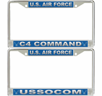 Air Force Commands License Plate Frames