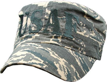 Air Force Usaf Flat Top Digital Camo Embroidered Ball Cap