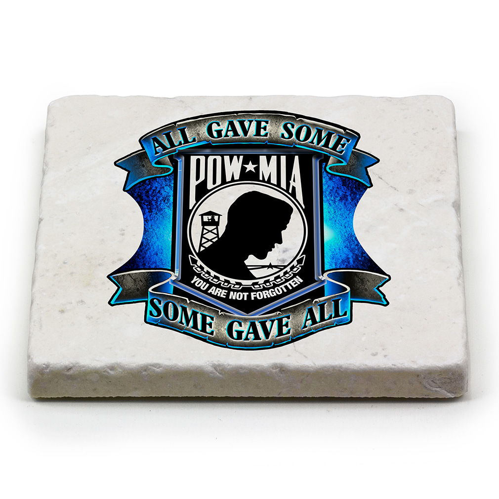 All Gave Some Some Gave All Natural Stone Coasters