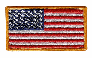 "AMERICAN FLAG  3"" x 1 7/8"" SHOULDER PATCH"