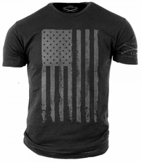 American Flag Gray T-Shirt