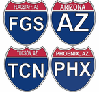 Arizona Interstate Stickers Decals