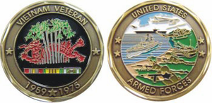 Armed Forces Vietnam Veteran 1959 - 1975 Challenge Coin