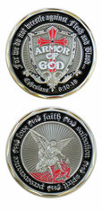 Armor of God Shield St Michael Challenge Coin