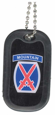Army 10th Mountain Division Enamel Dog Tag