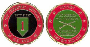 Army 1st Infantry Division Challenge Coin