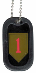 Army 1st Infantry Division Enamel Dog Tag