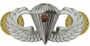 Army Basic Combat Parachute 1st Award Badge