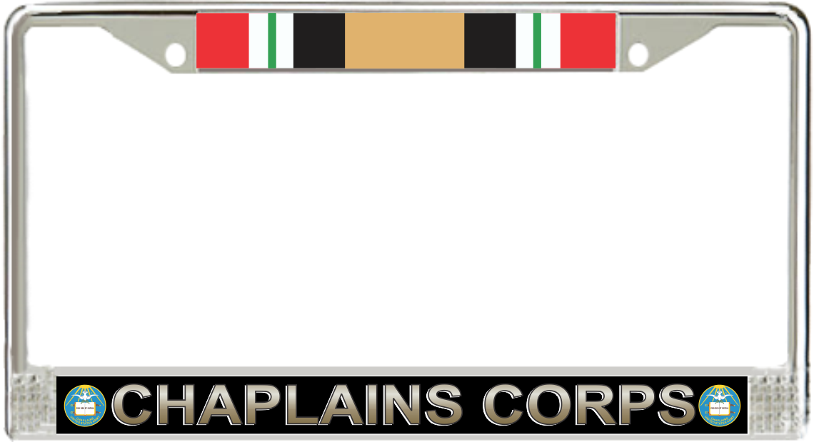 Army Chaplain Corps Iraq Veteran License Plate Frame