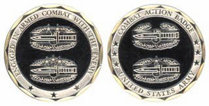Army Combat Action Badge Challenge Coin