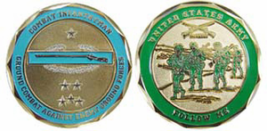 Army Combat Infantryman with CIB Challenge Coin