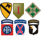 Army Division Vinyl Transfer Decals