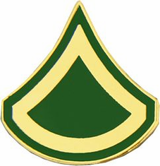 "Army E3 / PFC Rank 3/4"" Lapel Pin"