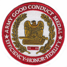 "Army Good Conduct Medal 4"" Patch"