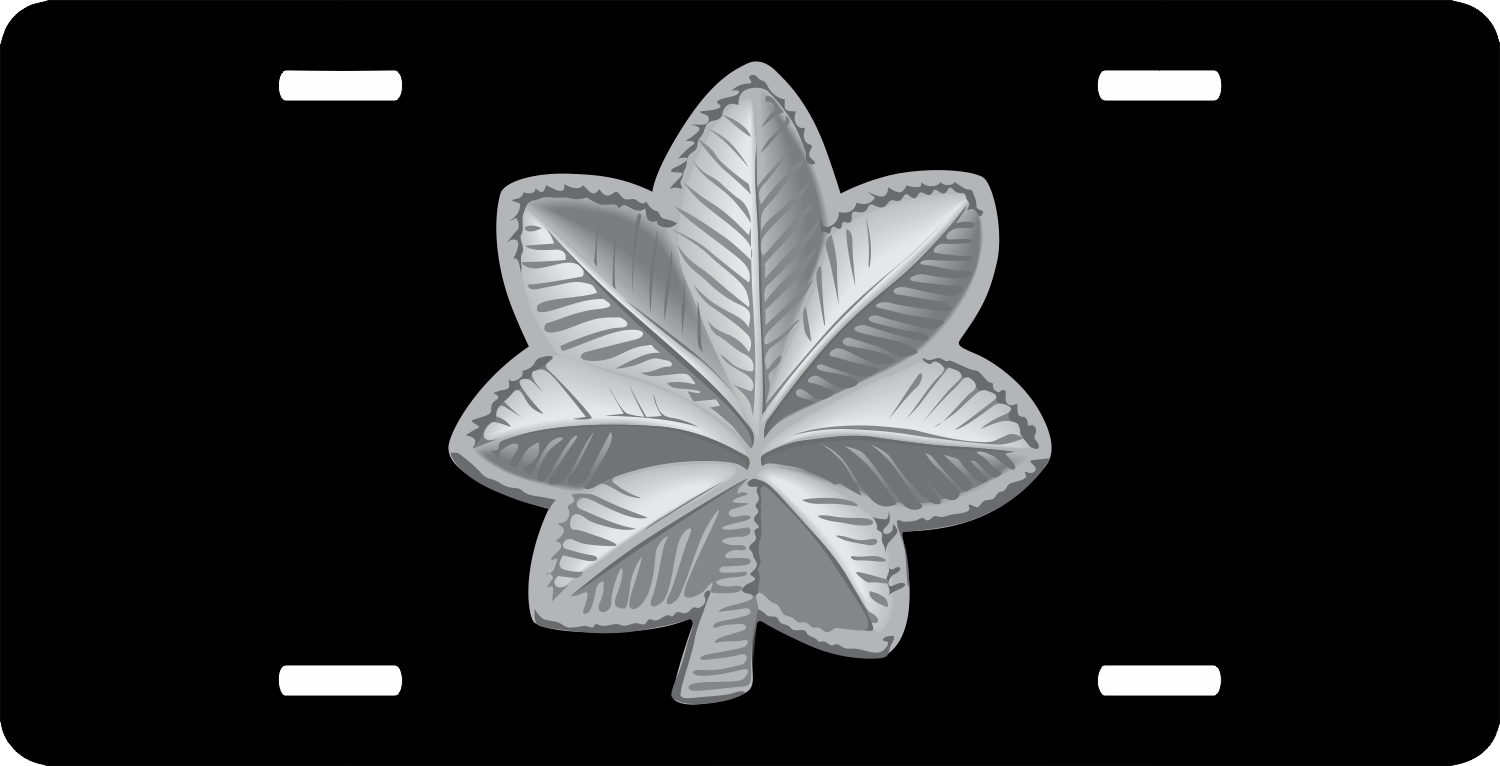 Army Lieutenant Colonel Rank License Plate