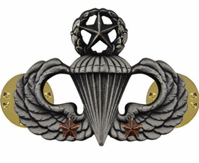 Army Master Parachutist Combat 2nd Award Badge