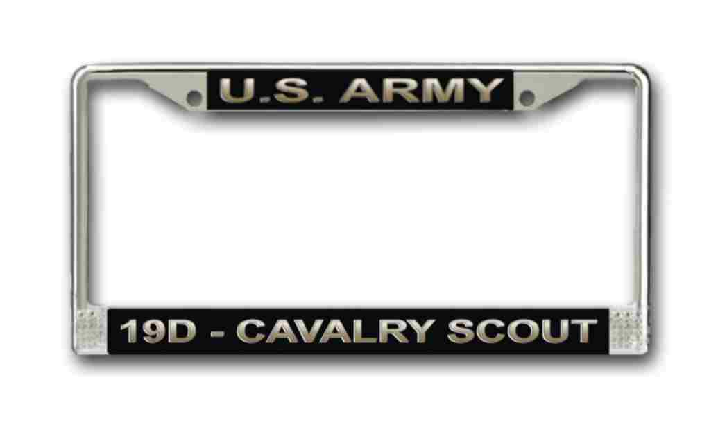 Army Mos 19d Cavalry Scout License Plate Frame
