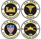 Army MOS Stickers