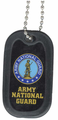 Army National Guard with Seal Enamel Dog Tag