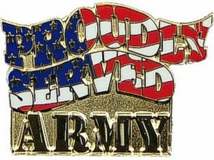 "Army Proudly Served 1"" Lapel Pin"