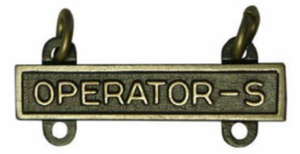 Army Qualification Bar Operator S