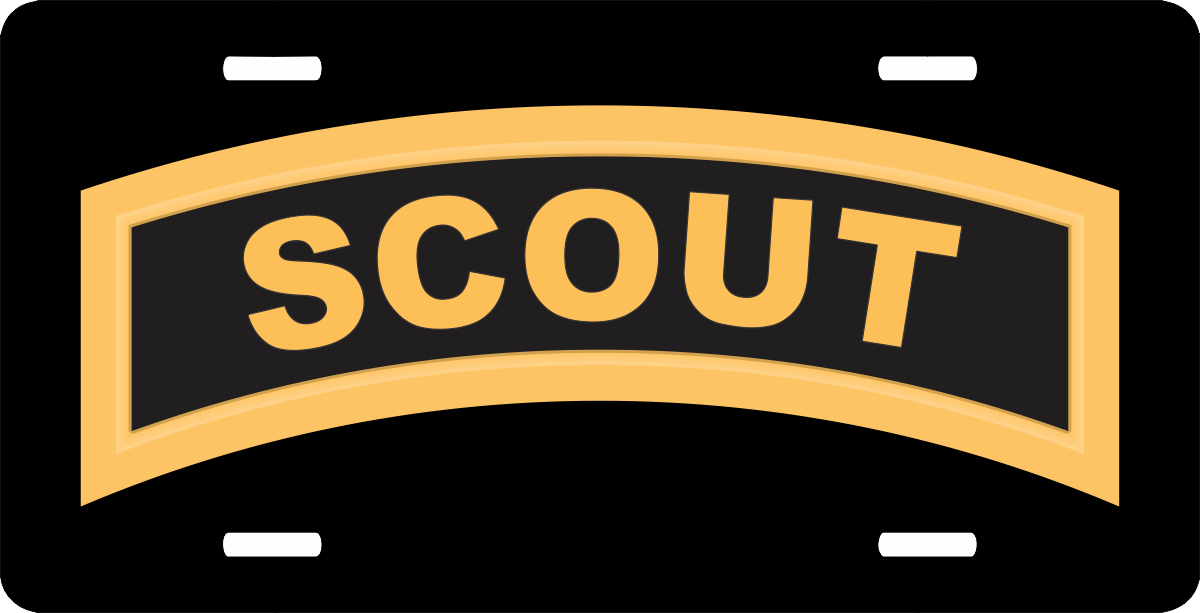 Army Scout Tab License Plate
