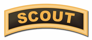 Army Scout Tab Sticker Decal