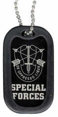 Army Special Forces Enamel Dog Tag
