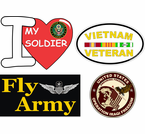 Army Spirit Decals and Bumper Stickers