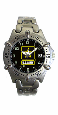 Army Watch with Brass Strap and Rotating Bezel