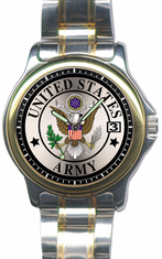 Army Watch with Stainless Steel Strap
