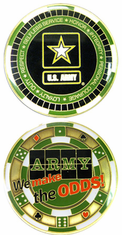 Army We Make the Odd Challenge Coin