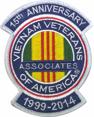 Associates of Vietnam Veterans 15 Year Anniversary Patch