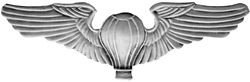 Balloon Pilot Wings Pin